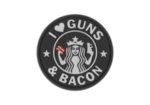 3D, Guns and bacon, musta